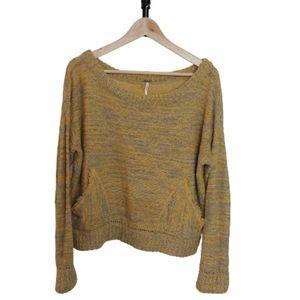 Boxy Mustard Yellow Free People Sweater